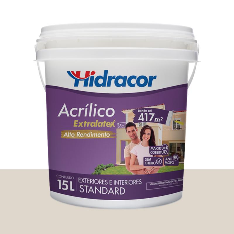 Tinta Acrilica Extralatex Fosca 15L Branco Gelo Hidracor