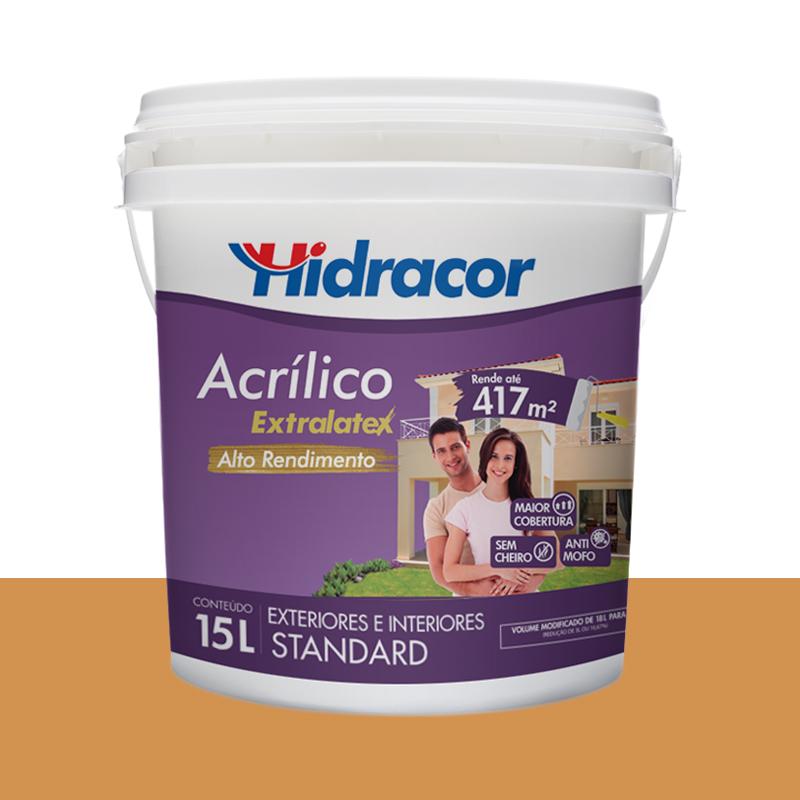 Tinta Acrílica Extralatex Fosca 15L Ocre Hidracor