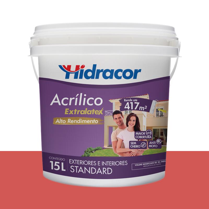 Tinta Acrilica Extralatex Fosca 15L Pitanga Hidracor