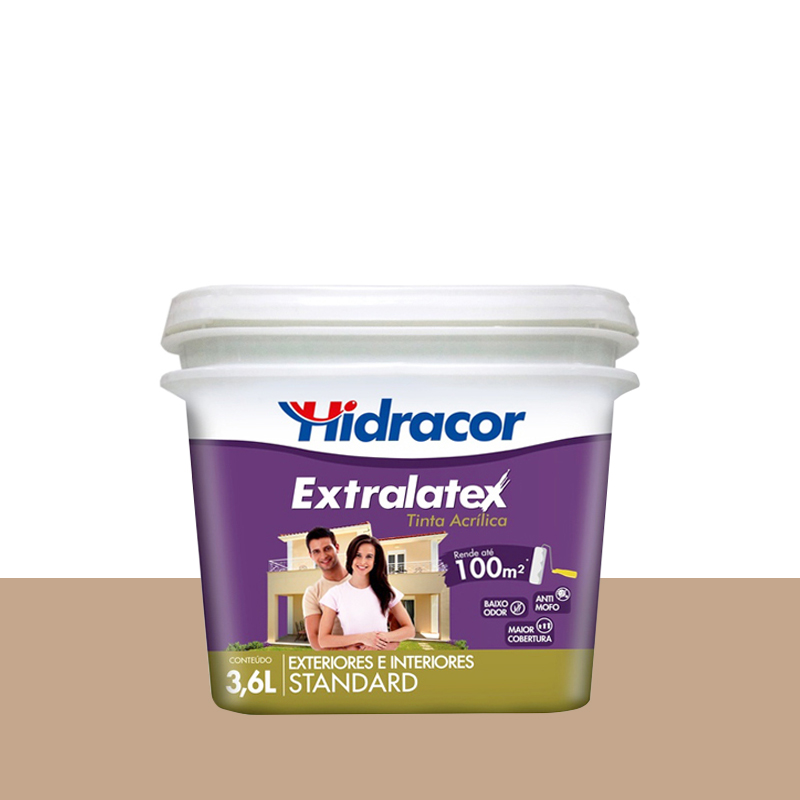 Tinta Acrilica Extralatex Fosca 3,6L Camurça Hidracor