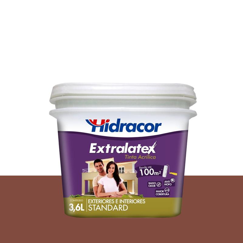 Tinta Acrílica Extralatex Fosca 3,6L Cravo Hidracor