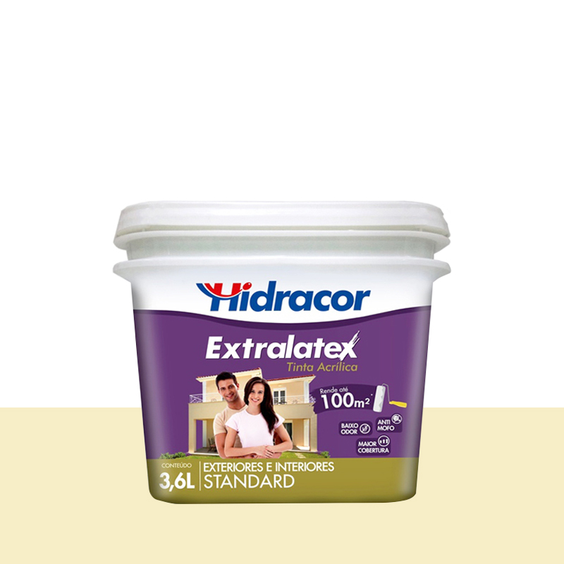 Tinta Acrílica Extralatex Fosca 3,6L Pérola Hidracor