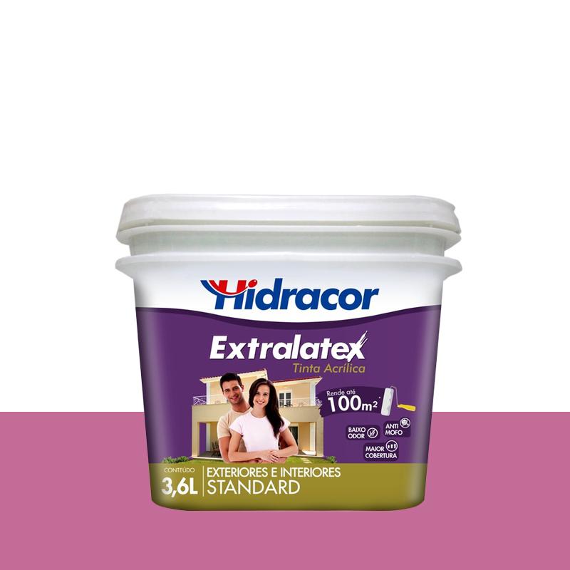 Tinta Acrilica Extralatex Fosca 3,6L Rosa Lotus Hidracor