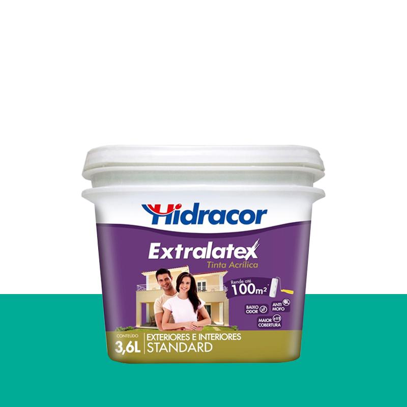 Tinta Acrílica Extralatex Fosca 3,6L Verde Água Hidracor