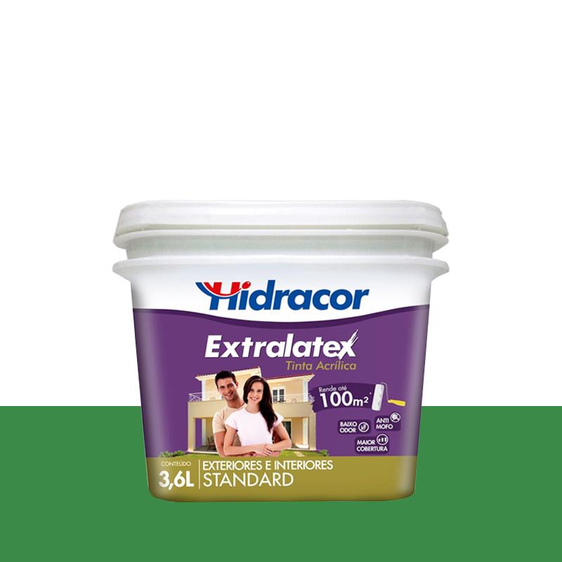 Tinta Acrílica Extralatex Fosca 3,6L Verde Campo Hidracor