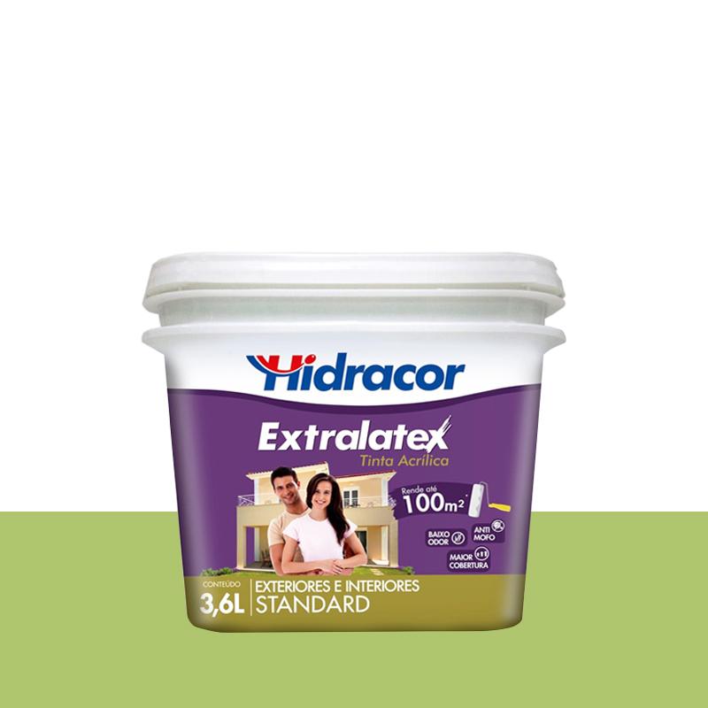 Tinta Acrílica Extralatex Fosca 3,6L Verde Limão Hidracor