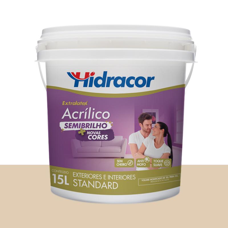 Tinta Acrilica Extralatex Semi Brilho 15L Areia Hidracor