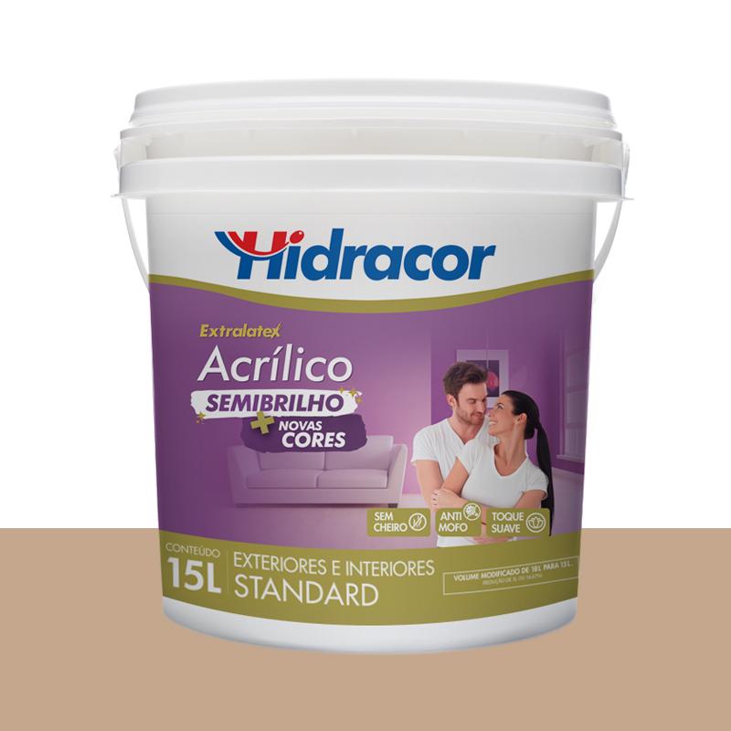 Tinta Acrilica Extralatex Semi Brilho 15L Camurça Hidracor