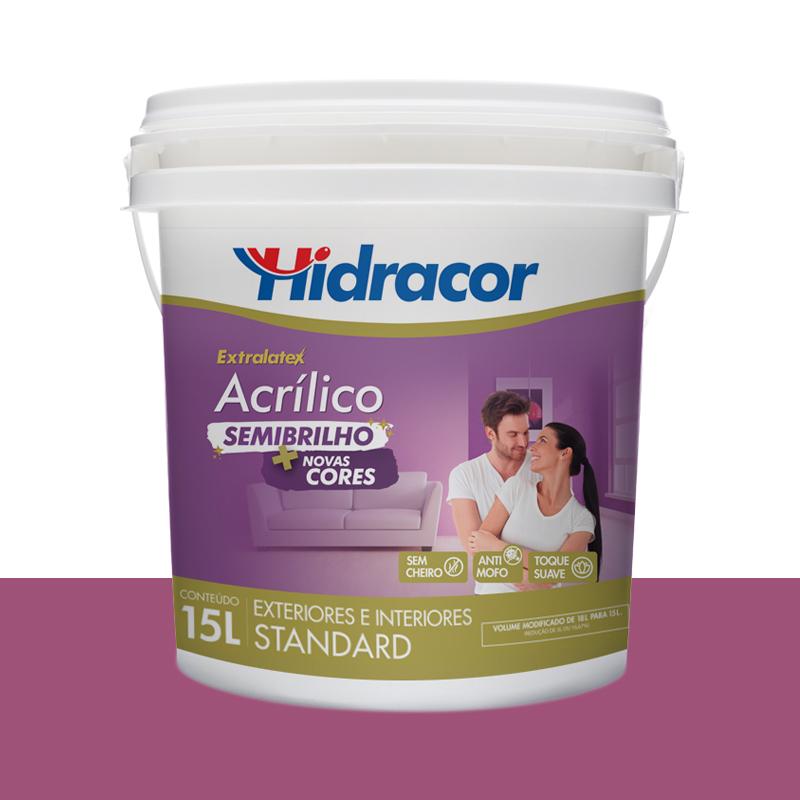 Tinta Acrílica Extralatex Semi Brilho 15L Lilás Atrevido Hidracor