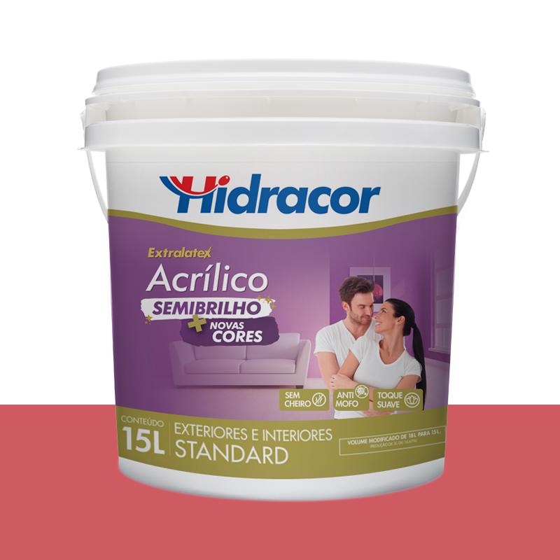 Tinta Acrilica Extralatex Semi Brilho 15L Melancia Hidracor