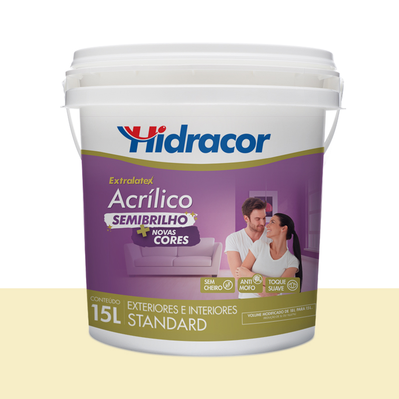 Tinta Acrílica Extralatex Semi Brilho 15L Pérola Hidracor