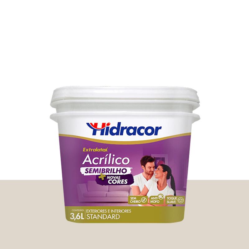 Tinta Acrilica Extralatex Semi Brilho 3,6L Branco Gelo Hidracor