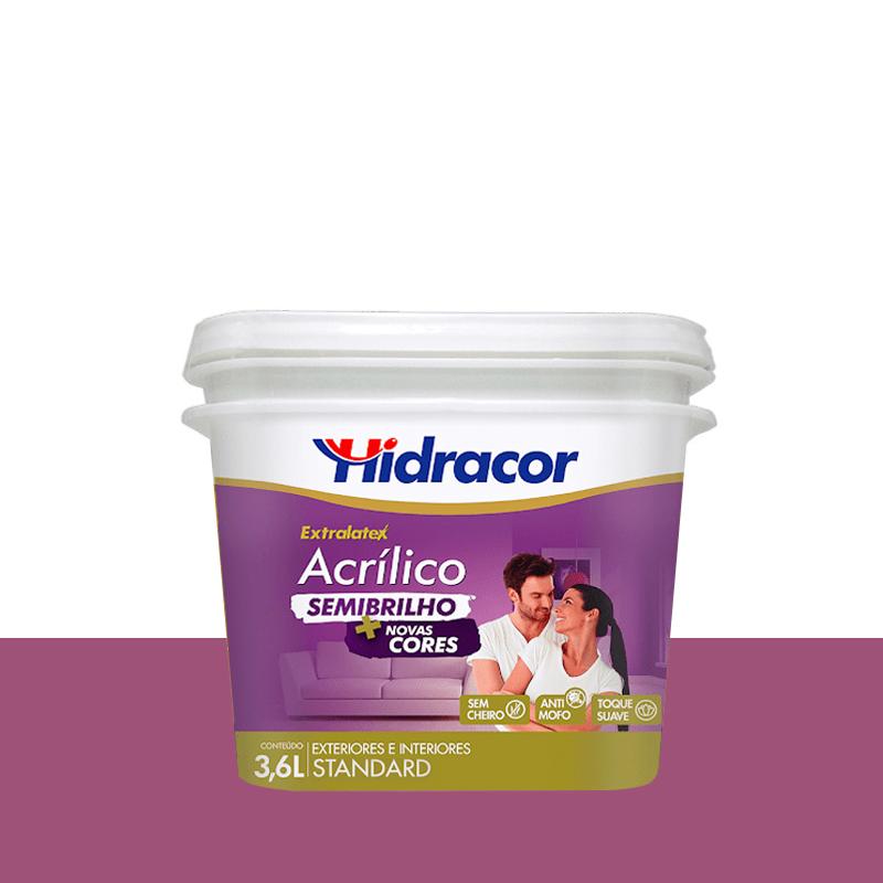 Tinta Acrilica Extralatex Semi Brilho 3,6L Lilas Atrevido Hidracor