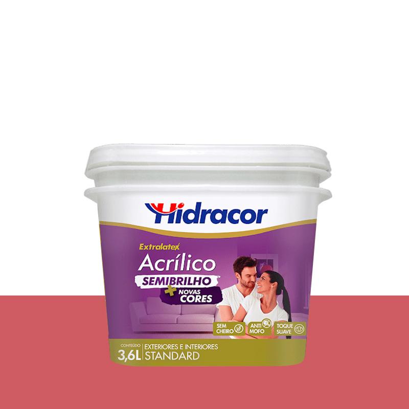 Tinta Acrílica Extralatex Semi Brilho 3,6L Melancia Hidracor