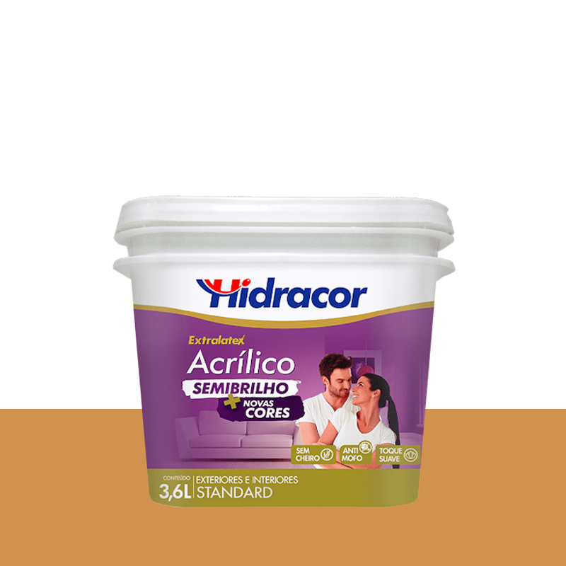 Tinta Acrilica Extralatex Semi Brilho 3,6L Ocre Hidracor