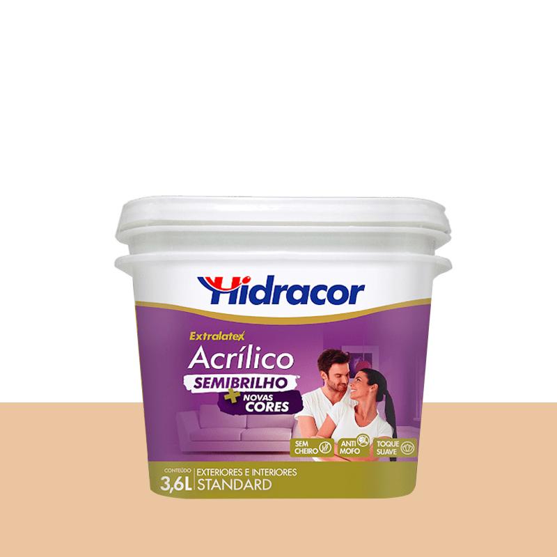Tinta Acrilica Extralatex Semi Brilho 3,6L Pessego Hidracor