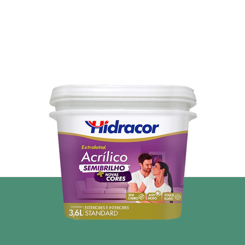 Tinta Acrilica Extralatex Semi Brilho 3,6L Verde Brasil Hidracor
