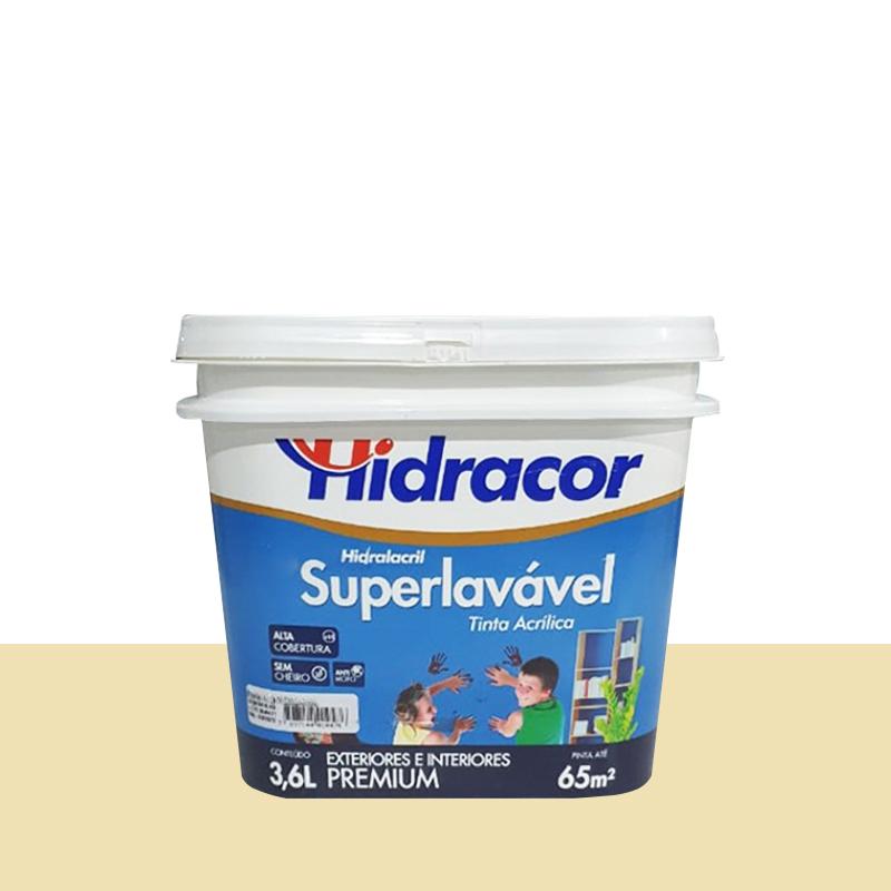 Tinta Acrilica Hidralacril Semi Brilho 3,6L Marfim Hidracor