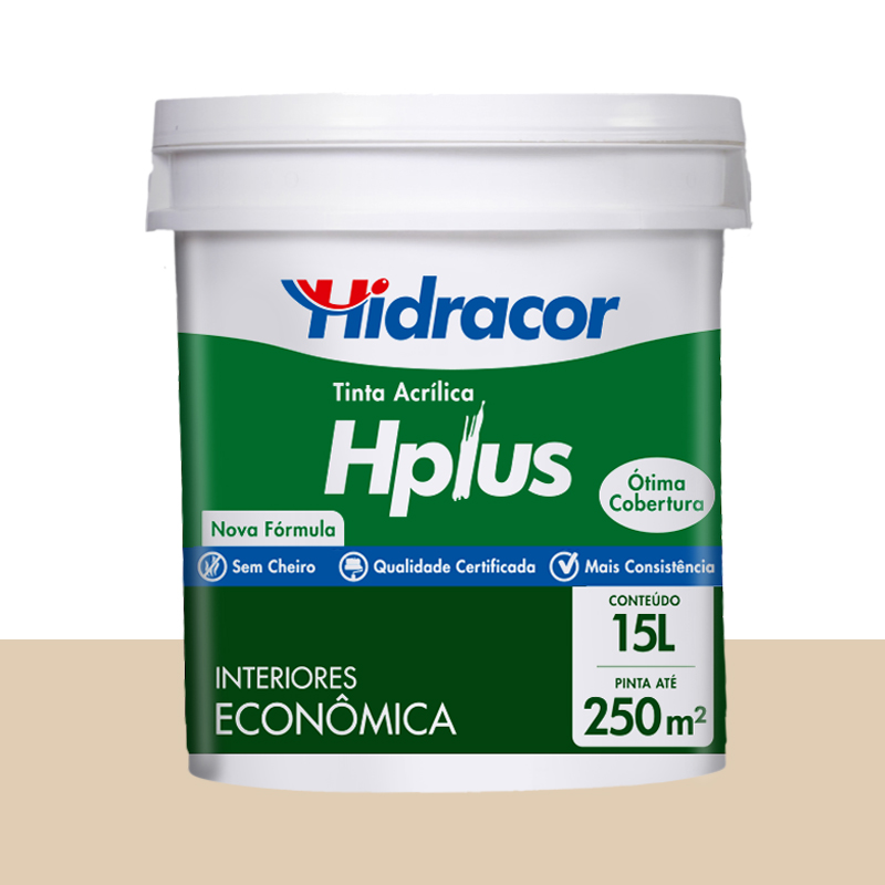 Tinta Acrilica Hplus Fosca 15L Areia Hidracor