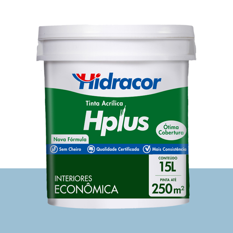 Tinta Acrilica Hplus Fosca 15L Azul Pavão Hidracor