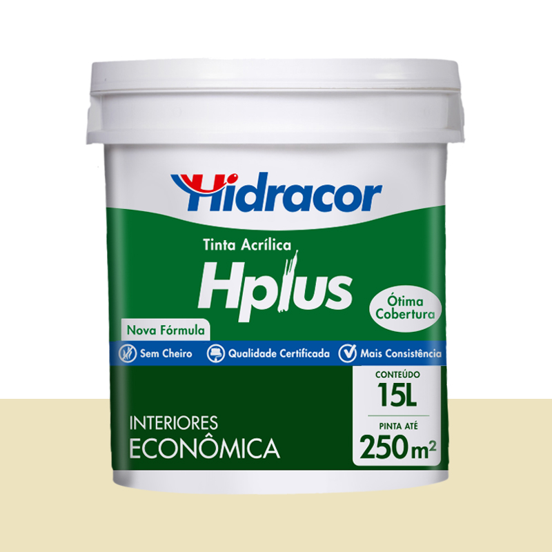 Tinta Acrilica Hplus Fosca 15L Palha Hidracor