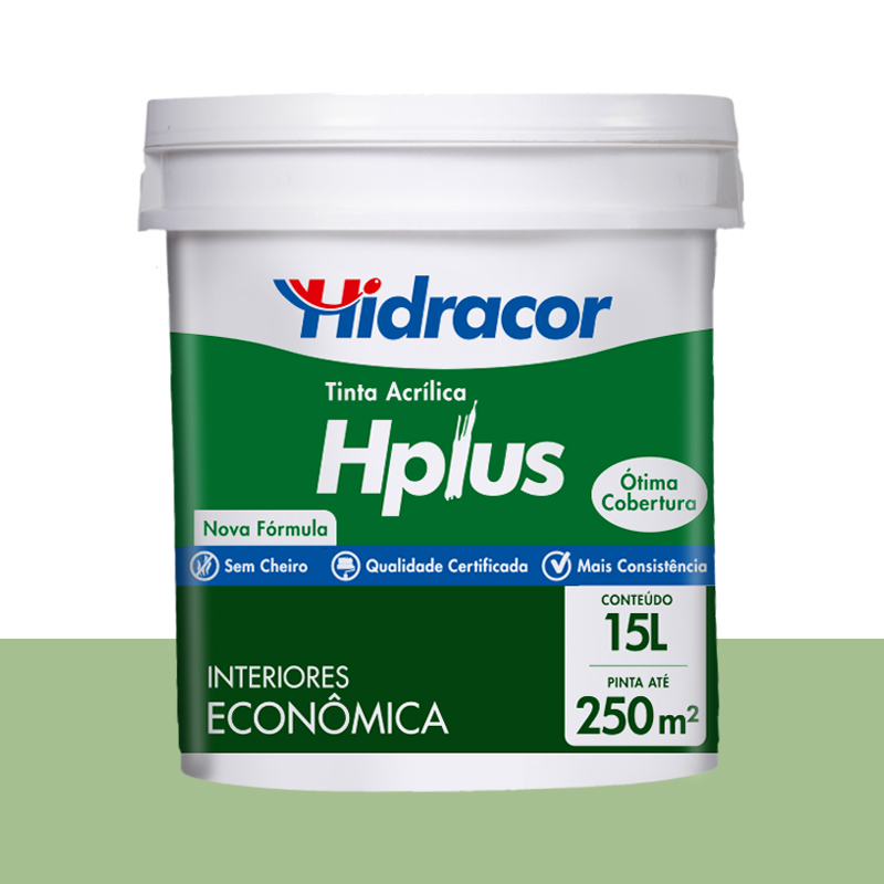 Tinta Acrilica Hplus Fosca 15L Verde Primavera Hidracor