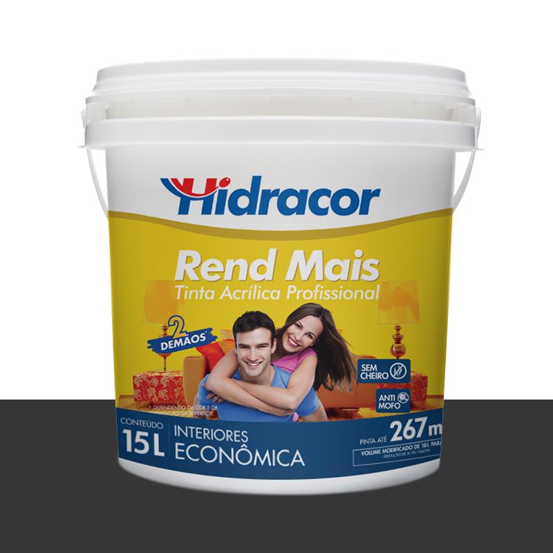 Tinta Acrilica Rendmais Fosca 15L Preto Hidracor