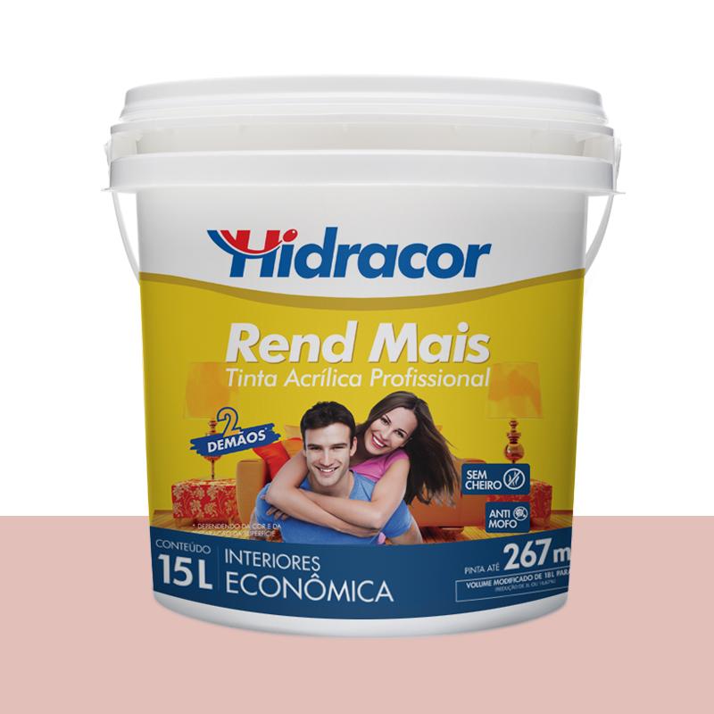 Tinta Acrilica Rendmais Fosca 15L Rosa Petala Hidracor