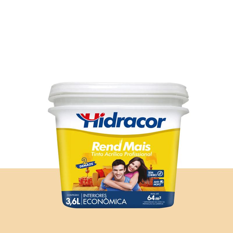 Tinta Acrílica Rendmais Fosca 3,6L Amarelo Vanilla Hidracor