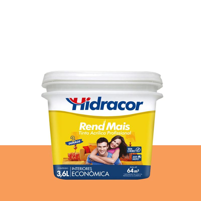Tinta Acrílica Rendmais Fosca 3,6L Laranja Cítrico Hidracor