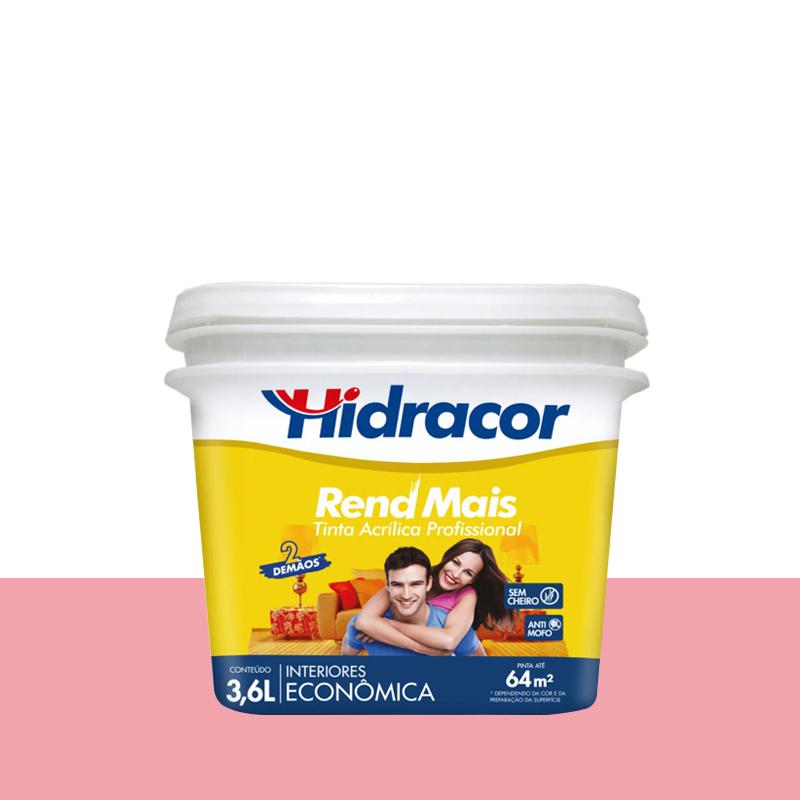 Tinta Acrilica Rendmais Fosca 3,6L Rosa Grena Hidracor