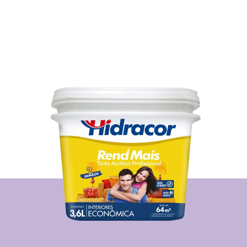 Tinta Acrilica Rendmais Fosca 3,6L Violeta Claro Hidracor