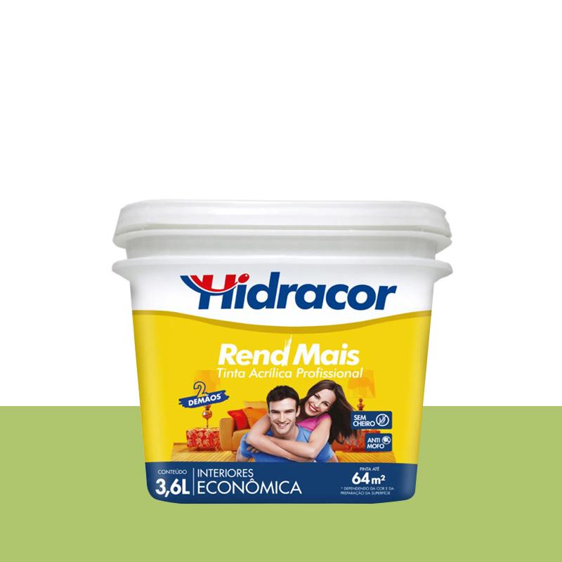 Tinta Acrilica Rendmais Fosco 3,6L Verde Limão Hidracor