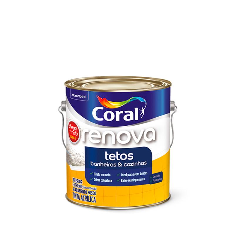 Tinta Acrilica Renova Tetos 3,6L Branca Coral