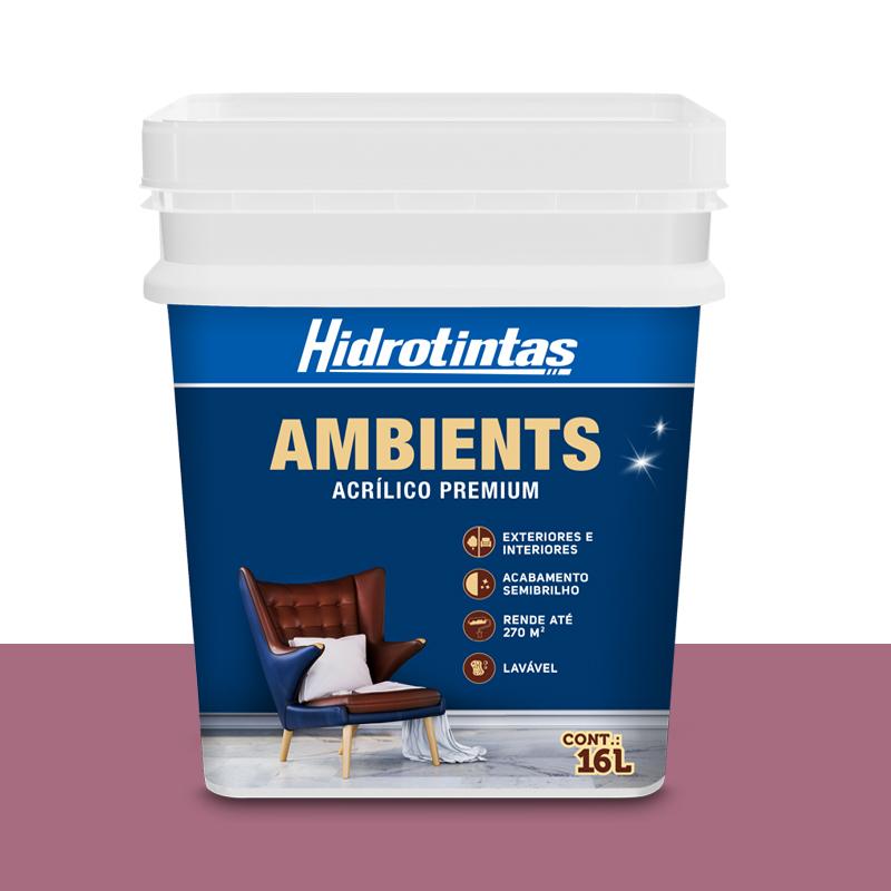 Tinta Acrilica Semi Brilho 16L Ameixa Hidrotintas