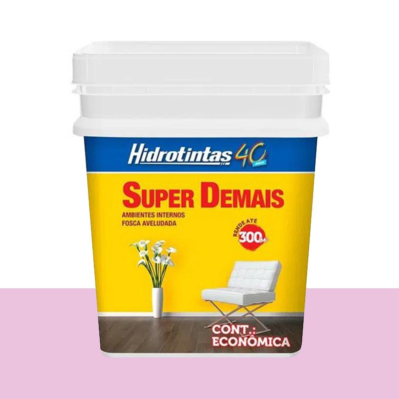 Tinta Acrilica Super Demais 15L Rosa Petala Hidrotintas