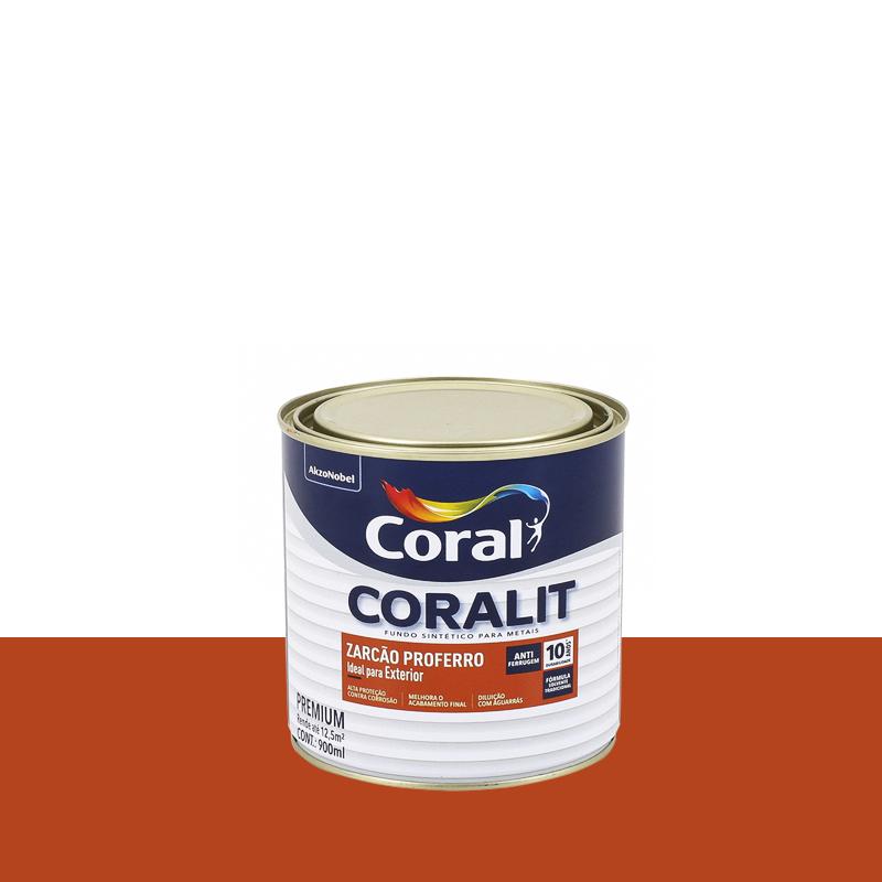 Tinta Coralit Antiferrurem 900mL Zarcão Coral