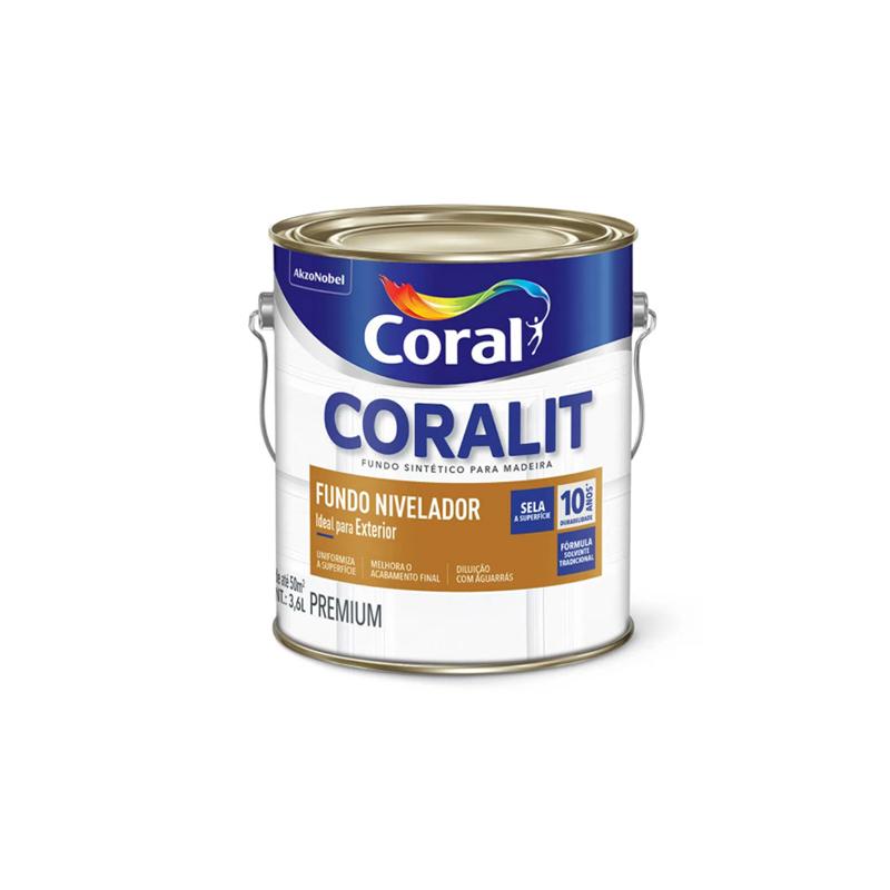 Tinta Coralit Fundo Nivelador Branco 3,6L Coral