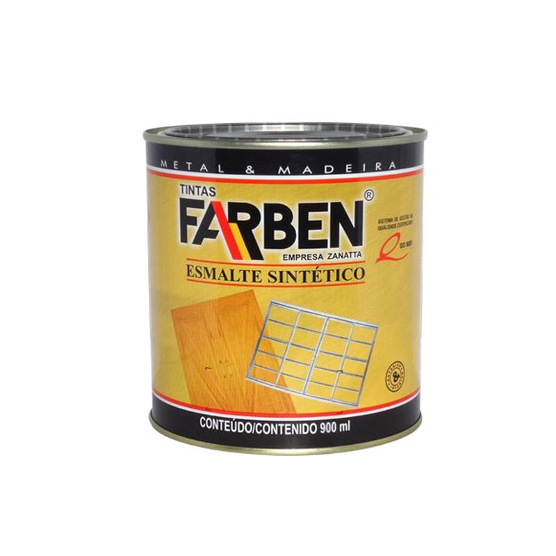 Tinta Esmalte Amarelo Ouro Metal 900G Farben