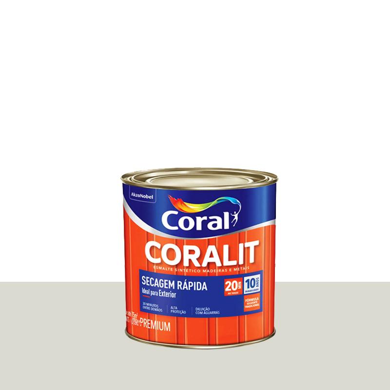 Tinta Esmalte Coralit Secagem Rápida 3,6L Branco Gelo Coral