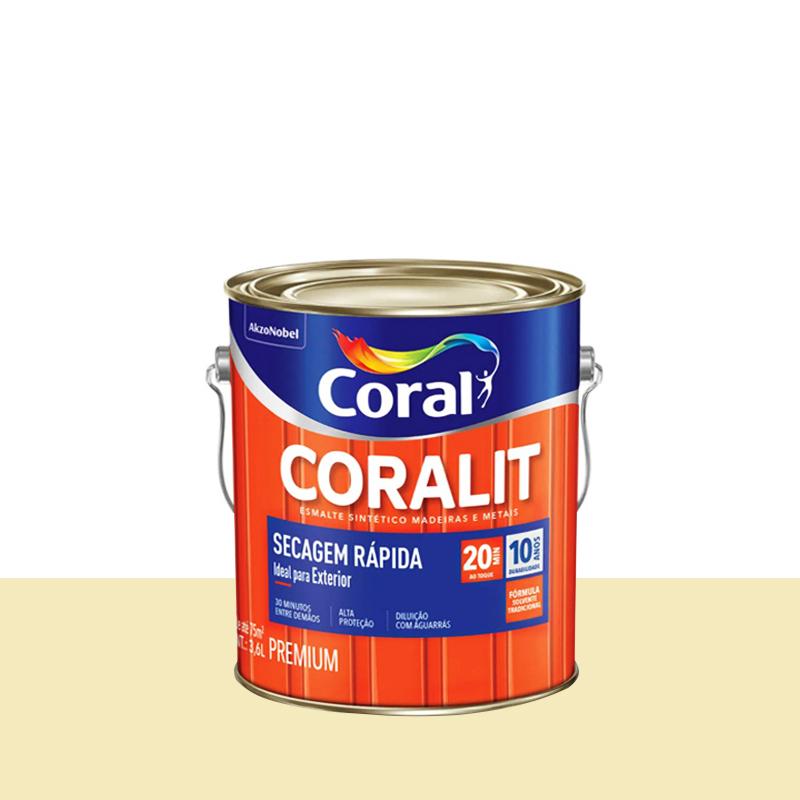 Tinta Esmalte Coralit Secagem Rapida 3,6L Marfim Coral