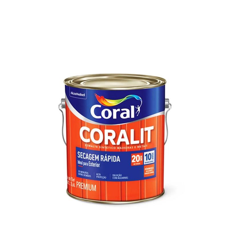 Tinta Esmalte Coralit Secagem Rapida 3,6L Platina Coral