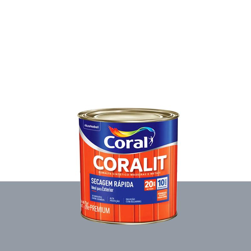 Tinta Esmalte Coralit Secagem Rápida 900mL Alumínio Coral