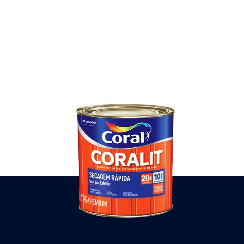 Tinta Esmalte Coralit Secagem Rapida 900mL Azul Del Rey Coral