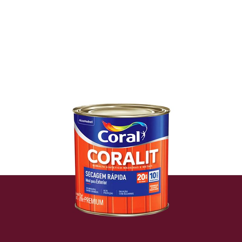 Tinta Esmalte Coralit Secagem Rapida 900mL Colorado Coral