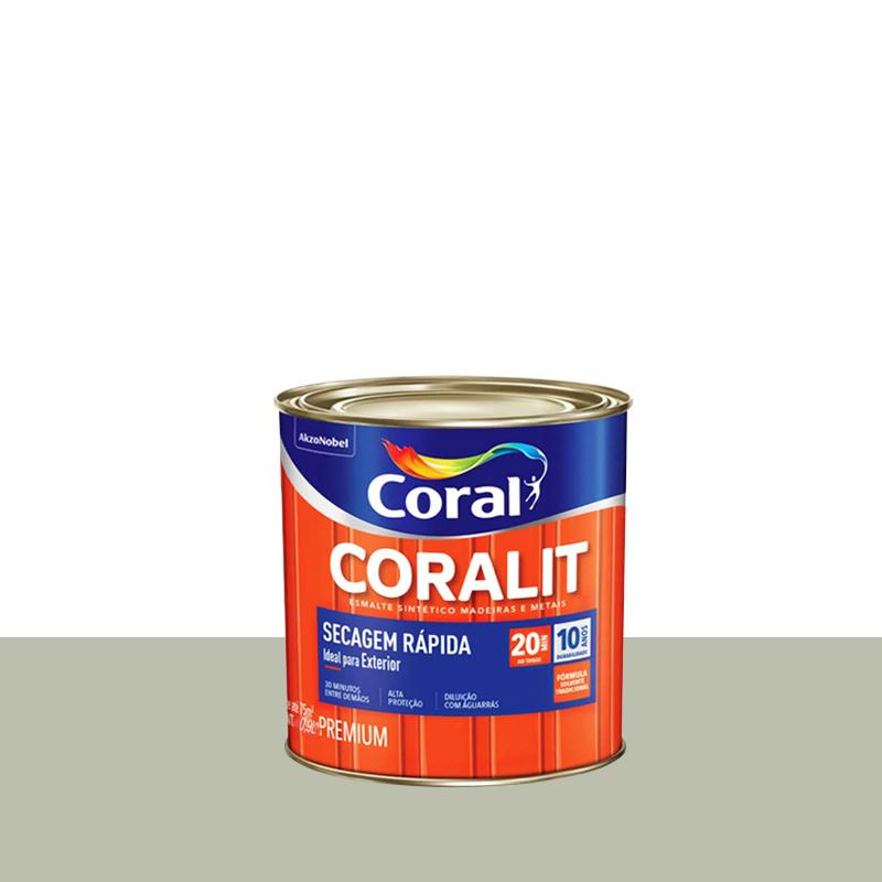 Tinta Esmalte Coralit Secagem Rapida 900mL Platina Coral