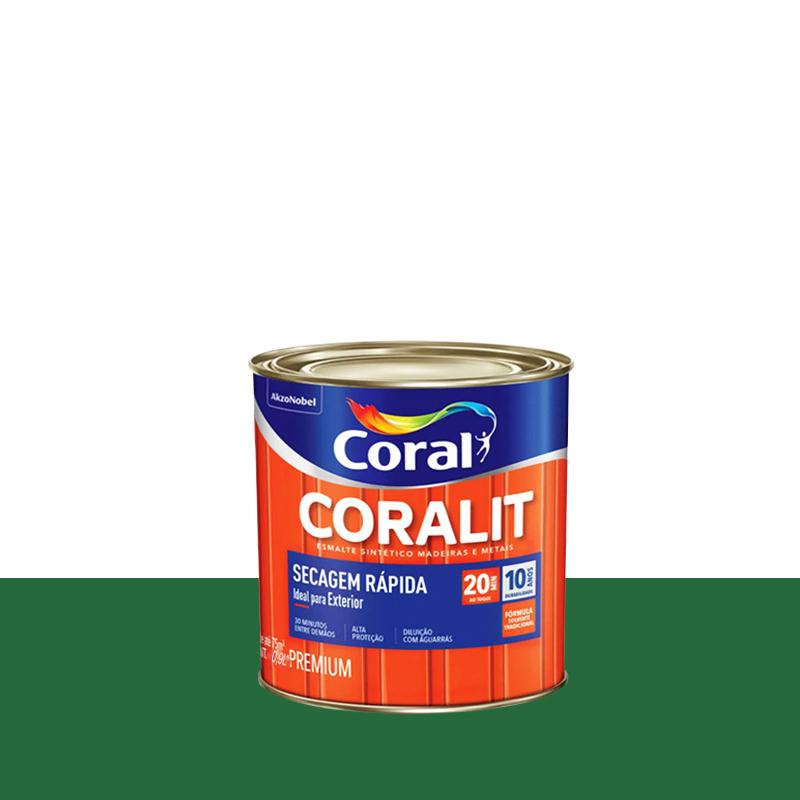 Tinta Esmalte Coralit Secagem Rapida 900mL Verde Folha Coral