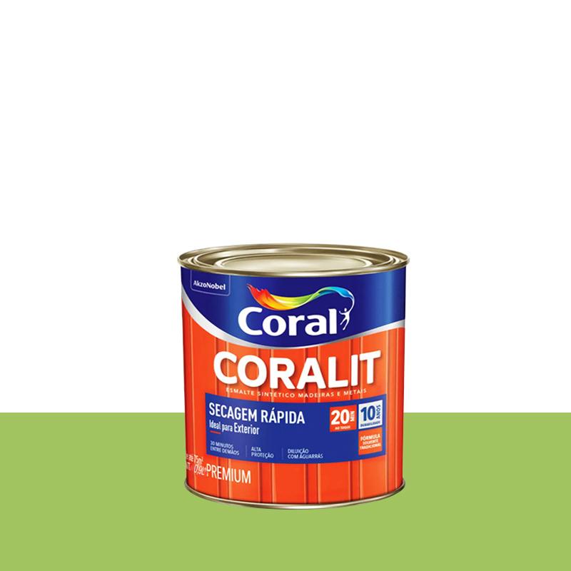 Tinta Esmalte Coralit Secagem Rapida 900mL Verde Limão Coral