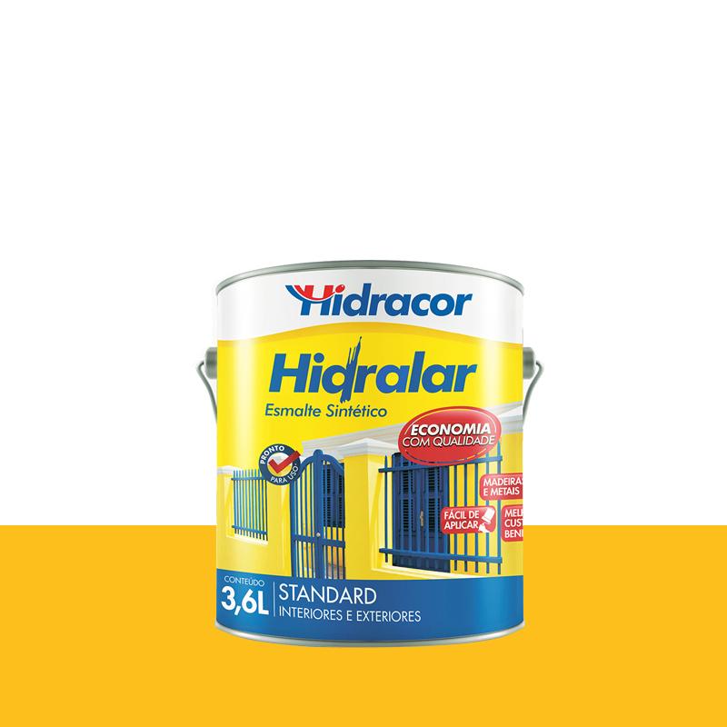 Tinta Esmalte Hidralar 3,6L Amarelo Hidralar