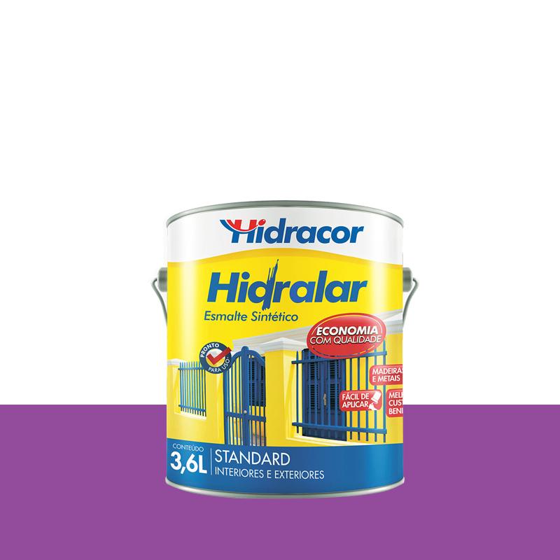 Tinta Esmalte Hidralar 3,6L Lilás Hidracor